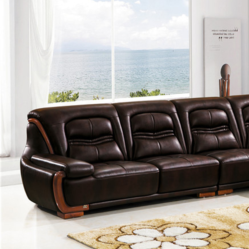 New Style modern corner leather sofa designs drawing room sofa set ...
