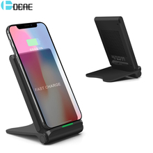 DCAE 10W Quick Wireless Charging Pad For Samsung S9 S8 Plus USB Foldable QI Fast Wireless Charger For Iphone X 8 Plus XS MAX XR