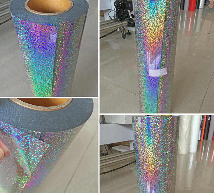 Holographic Heat Transfer Vinyl4 Colors To Choose Transfer Textile Film 20''x20''(50cmx50cm)