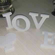 new wooden White English letters combination diy wedding love confession 3d sticker home decor Modern liberal