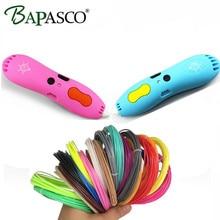 Bapasco X7 3D Printing Pen Add Free PCL Filament Low Temperature 3D Pen For Kids education Tool USB Rechargeable 3D Doodle Pen