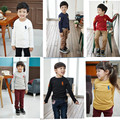 Hot Sale spring children's long sleeve t shirts baby boys & girls embroidery shirt kids clothing 100% cotton 2-6Y