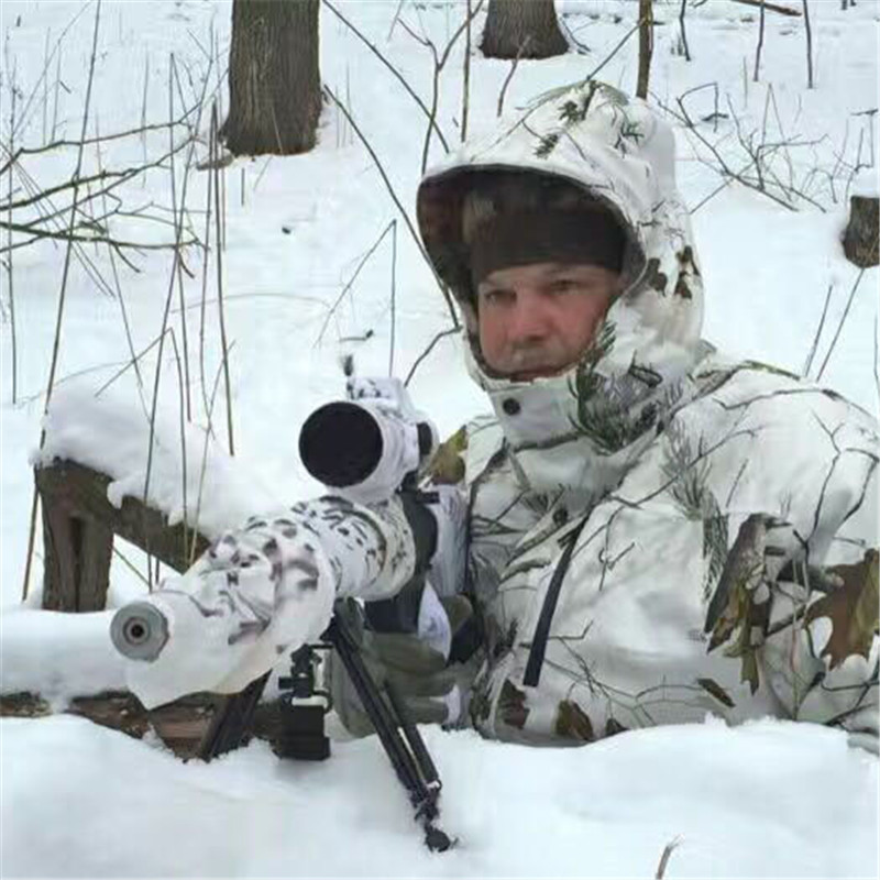 08c63642274be Winter Cold Weather Thicken Lining Fleece White Snow Bionic Camouflage  Hunting Tactical Fishing Clothing Ghillie Suit Jacket Pan-in Hunting  Ghillie Suits ...