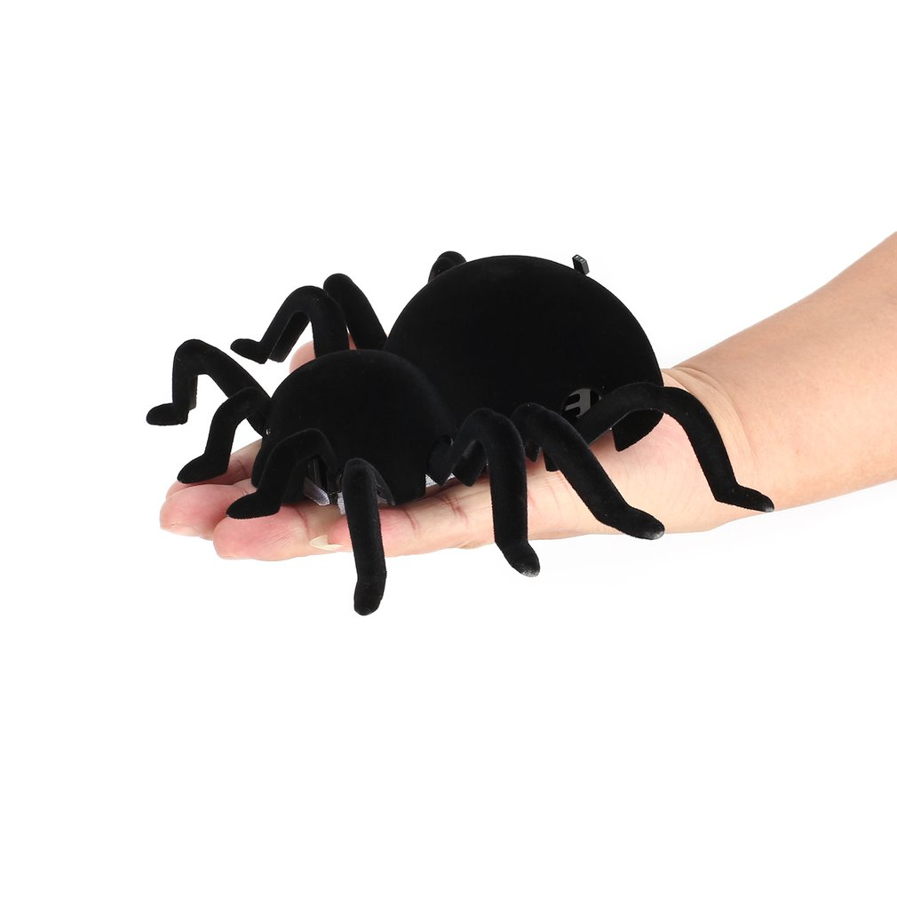Infrared Remote Control Wall Climbing Realistic Spider RC Prank Insect Joke Scary Trick Toy Kid Gift Halloween Party RC Spider scary lifelike spider toy with squeeze to sound effects