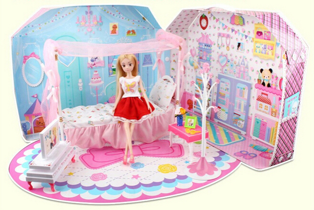 Barbie Doll Sweet House Bedroom Big Gift Box Princess Dream Bedroom Barbie  Pattaya Pyrene