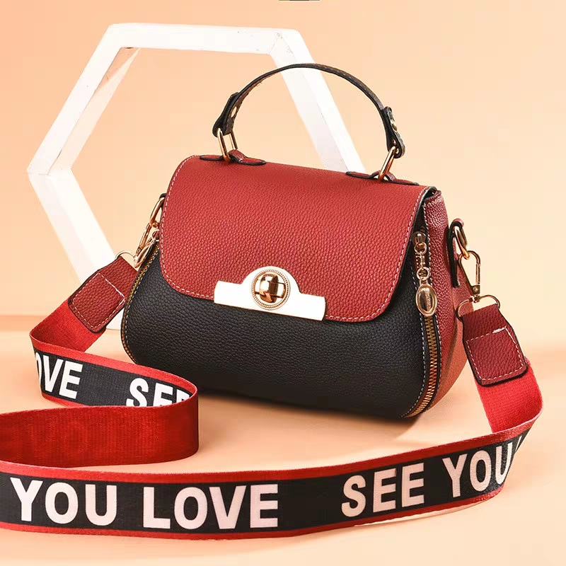 JUILE fashion brand Women Messenger Bags quality leather contrast color design ladies shoulder bag handbag youth Girl coin purse in Top Handle Bags from Luggage Bags
