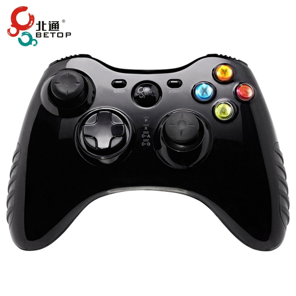BETOP USB Wireless Vibration Gamepad Computer Game Handle Controller For PC TV Box For PS3 For Android System Gamepad