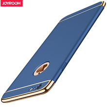 Joyroom Phone Cases For iphone 6 plus 6s plus Luxury Ultra Thin Matte Case Plating Frame Back Cover Case For iphone 6s plus