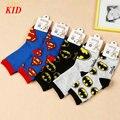 Calcetines Niños Calcetines de Algodón de dibujos animados Superman Batman Niños Niña Niño Calcetines Meia KD426