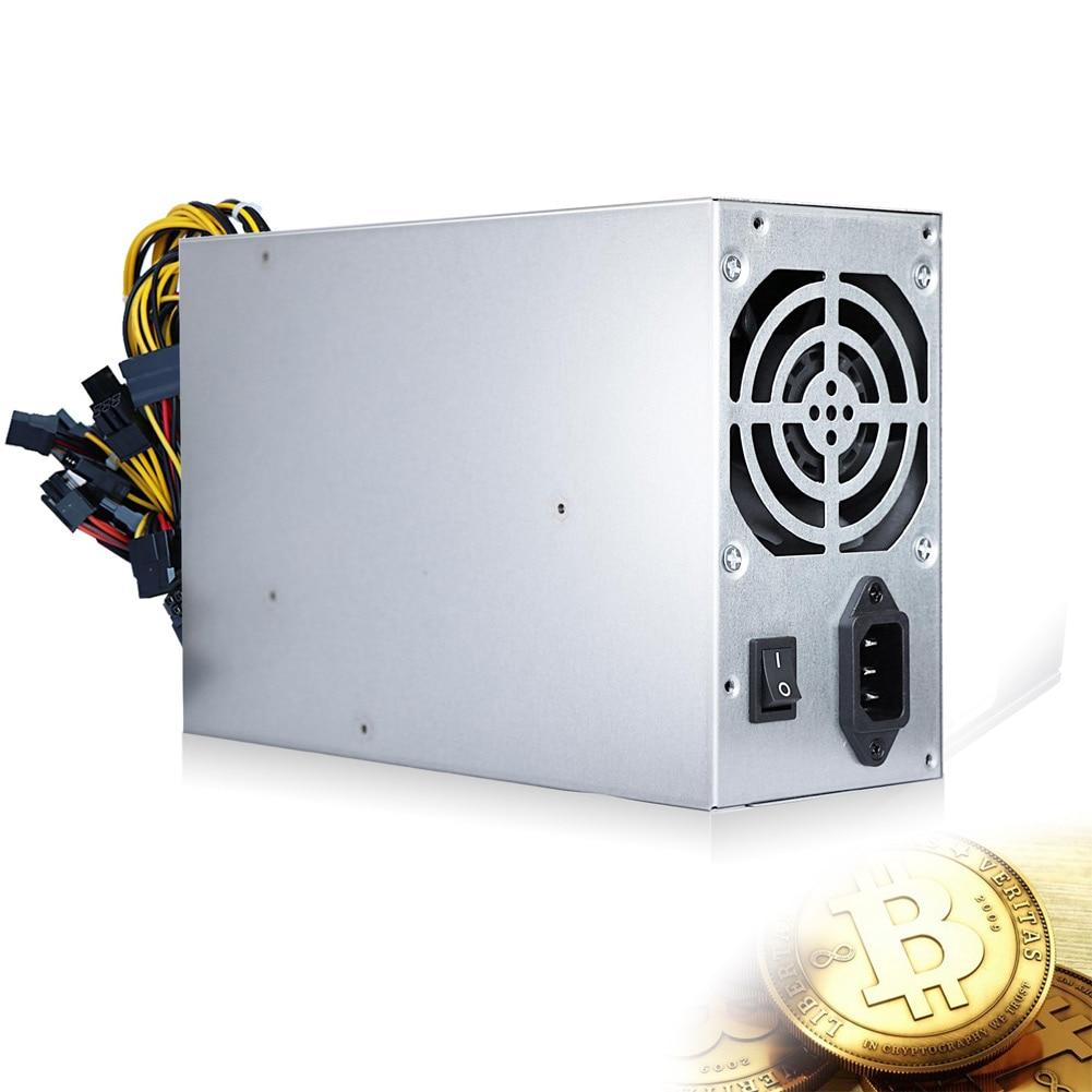 1800W Power Supply 220V 50HZ For Bitcoin Mining Machine GPU Open Mining Ethereum ZEC 90 Gold