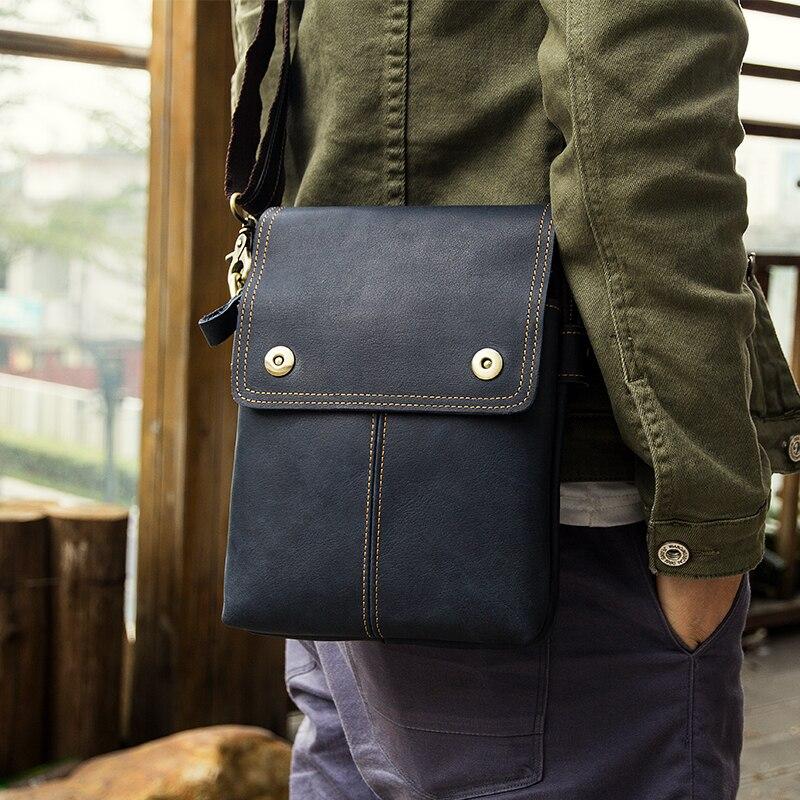 J.M.D J.M.D  Genuine Leather Sling Bag Men's Small Messenger Bags For Phone Purse 1006K