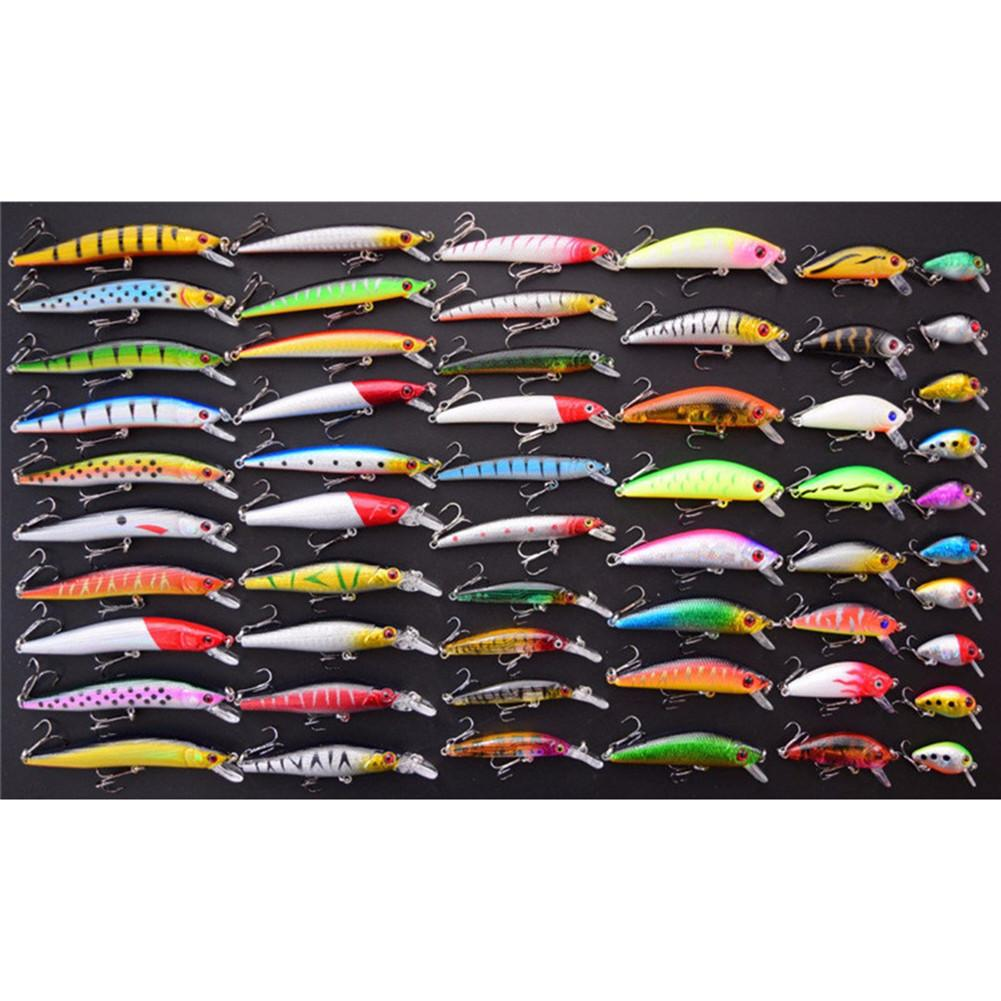 56pcs/lot Almighty Fishing Lures Set Mixed Minnow Hard Bait Wobbler Crank Baits Completely New Perfect Design Professional A Great Variety Of Goods