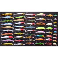56Pcs/lot Almighty Fishing Lures Set Mixed Minnow Hard Bait Wobbler Crank Baits Completely New Perfect Design Professional
