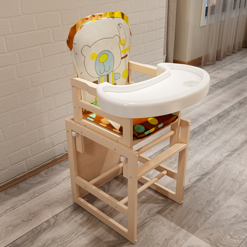 Wooden Baby Dining Chair Feeding Chair For Babies Cartoon Dining