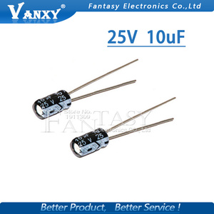 Image 5 - 50 Stuks Higt Kwaliteit 25V10UF 4*7Mm 10Uf 25V 4*7 Elektrolytische Condensator