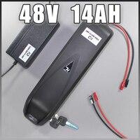 48v 1000w electric bike battery 48v 14ah Sanyo lithium bottle Hailong 750W battery 8FUN BBS02 Bafang motor