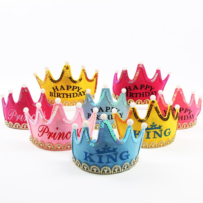 Hot Party Hats Multicolor Birthday Party Crown Hat Happy Birthday