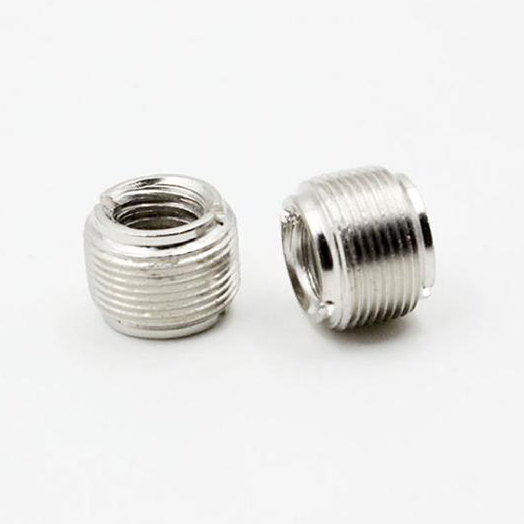 2 Pcs Microphone Clip Screw Thread Adaptor 5/8'' To 3/8'' Converter Connector 15.6x15.4x15.4mm