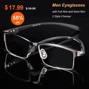 Image 2 - 男性チタン合金眼鏡フレーム男性眼鏡柔軟な寺院脚 ip 電気めっき合金材料、フルリムとハーフリム