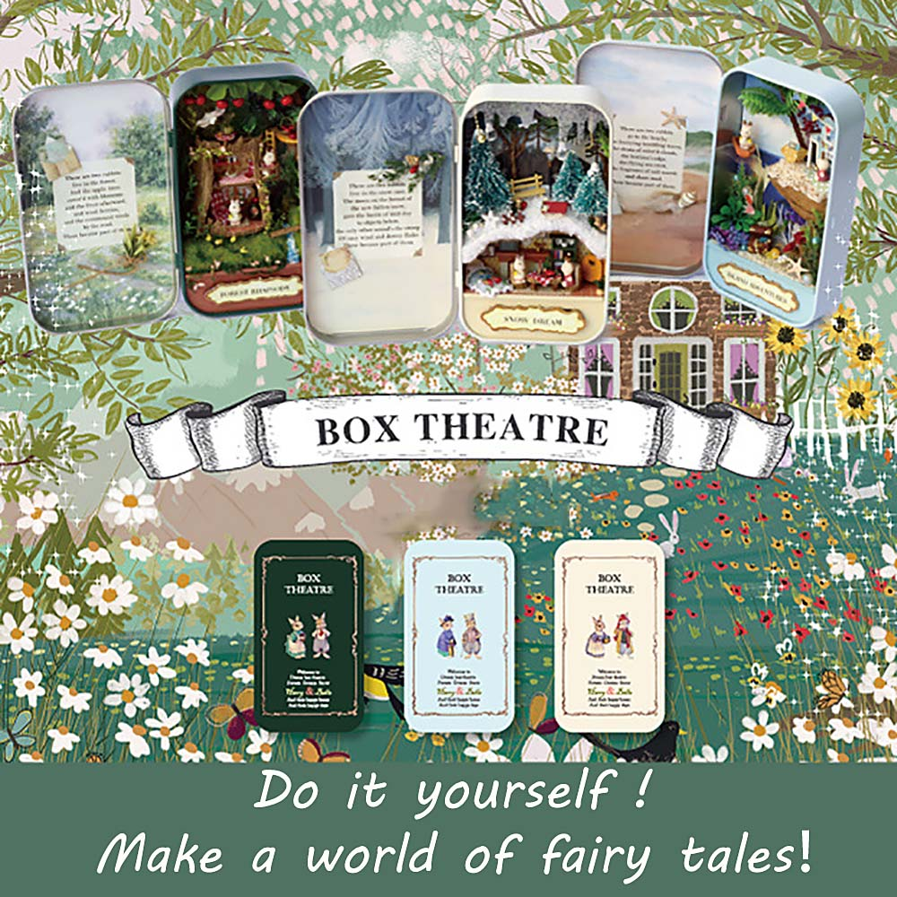 Cute DIY Tin Box Miniature 3D Doll House Kit Theatre Series Small Handcraft New diy doll house villa model include dust cover and furniture miniature 3d puzzle wooden dollhouse creative birthday gifts toys