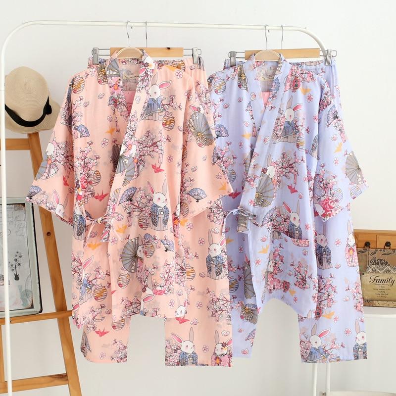 Жапондық Kimono Robe & Pants әйелдер Pijamas - Ұлттық киім - фото 1