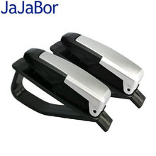 JaJaBor Car Sun Visor Sunglasses Holder Ticket Card Clamp Fastener Cip Portable ABS Eyeglasses Clip Universal Car Glasses Cases(China)