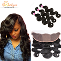 Brazilian Body Wave With Closure,13x4 Ear To Ear Silk Base Frontal Closure With Bundles,Brazilian Virgin Hair With Closure