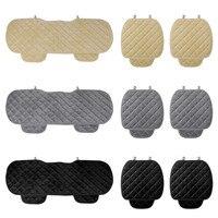 3 Pz/set Universale Quadrato Comodo Morbido Cotone Auto Cuscino del Sedile Anteriore Sedile Posteriore Covers Auto Sedia Pad Mat Forniture Per Auto