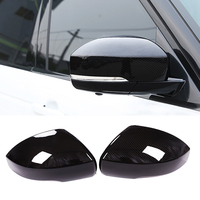 Carbon Fiber Car Rear View Mirror Covers ABS Stickers for Land Rover Discovery 4 5 2018 Auto accessories