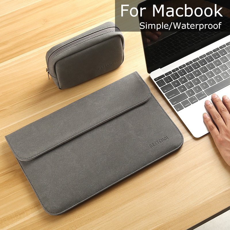 New Matte Laptop Sleeve for Macbook air pro 13 Case Laptop Bag 15.4 for Case Macbook retina 11 New 12 15 Notebook Case Solid hot pu leather sleeve case for macbook air 11 air 13 retina 13 3 inch pro 15 4 envelope bag wholesales free drop shipping