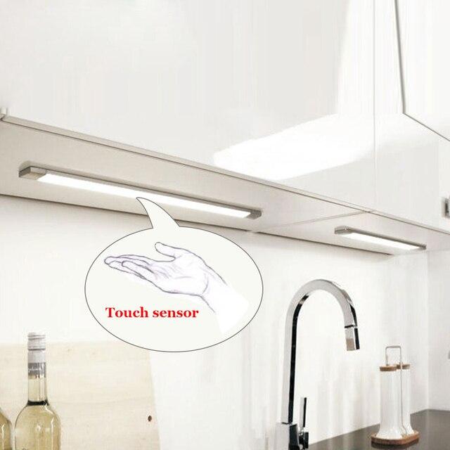 Tanbaby 5 W Sensor de Toque LED Gabinete de luz com adaptador de Energia Pode Ser Escurecido Tubo da lâmpada SMD 2835 alto brilho para o armário, cozinha