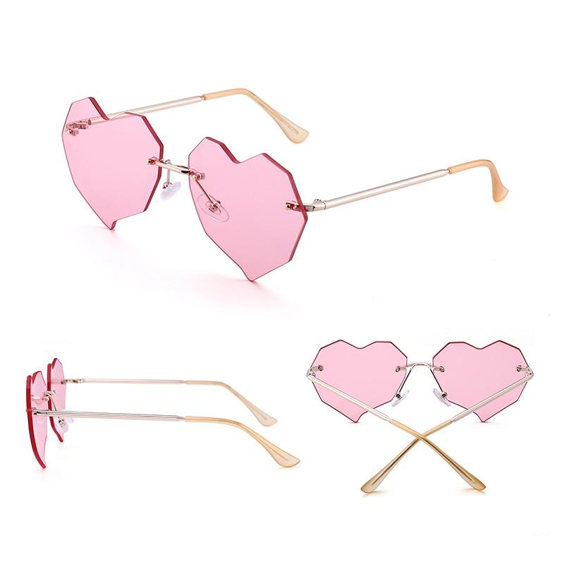 Jim Halo Heart gafas de sol sin montura mujeres irregulares claro - Accesorios para la ropa - foto 4
