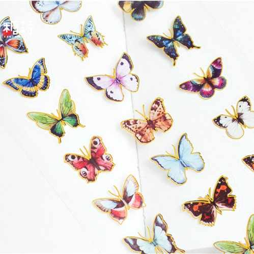 Kawaii Butterfly Vase Diamond Flower PVC Decoration Adhesive Stickers DIY Stickers Diary Sticker Scrapbook Stationery Stickers