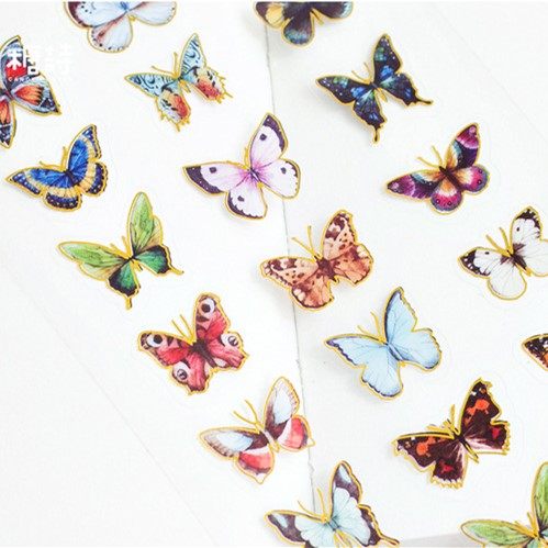 Kawaii Butterfly Vase Diamond Flower PVC Decoration Adhesive Stickers DIY Stickers Diary Sticker Scrapbook Stationery Stickers toilet closestool butterfly and flower rattan pattern wall sticker