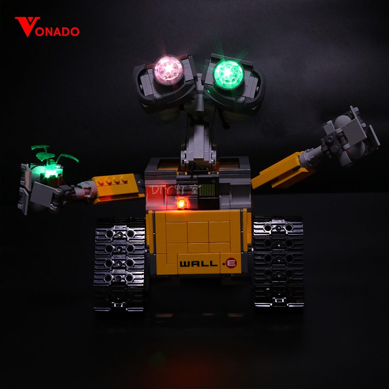 Led Light For <font><b>Lego</b></font> <font><b>21303</b></font> 16003 Idea <font><b>lego</b></font> Robot WALL E Eyes Flashing Light Building Blocks Toys (only light+Battery box) image