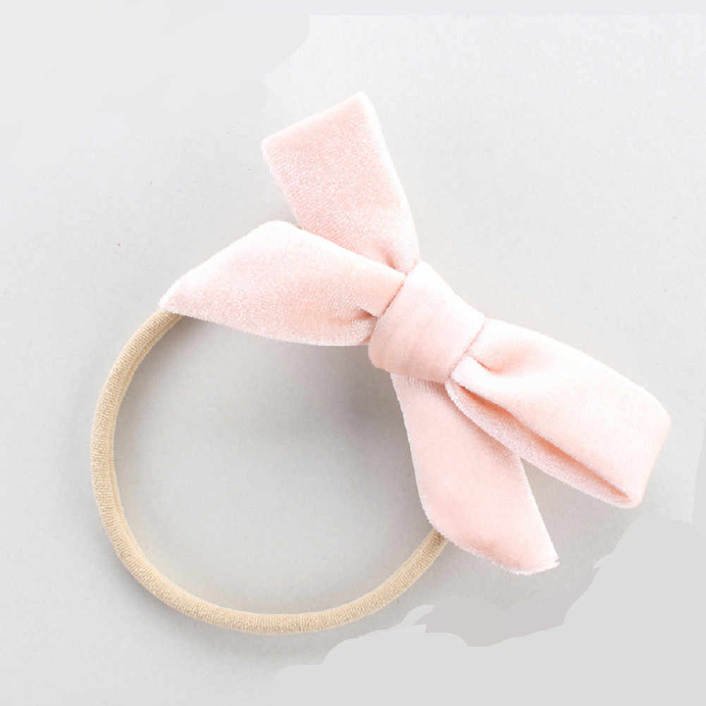 2019 Baby Accessoires Kinderen Meisje Baby Haar Ring Touw Fluwelen Strik Houder Elastische Effen Kleur Fluwelen Band Ring Baby Cadeau