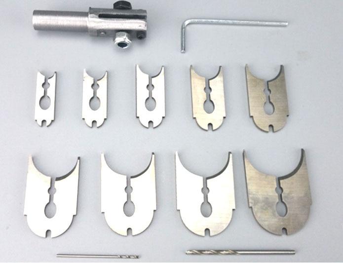 Tungfull 12ks růženec korálek formovací nůž nůž koule - Vrták - Fotografie 3