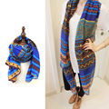 2016 European winter long silk chiffon scarf shawl and New Ladies beach towel scarf