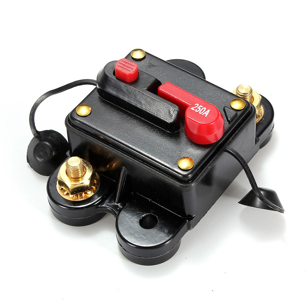 car 12v 250a automatic recovery switching supplies power car audio fuse circuit breaker fuse holder insurance [ 1000 x 1000 Pixel ]