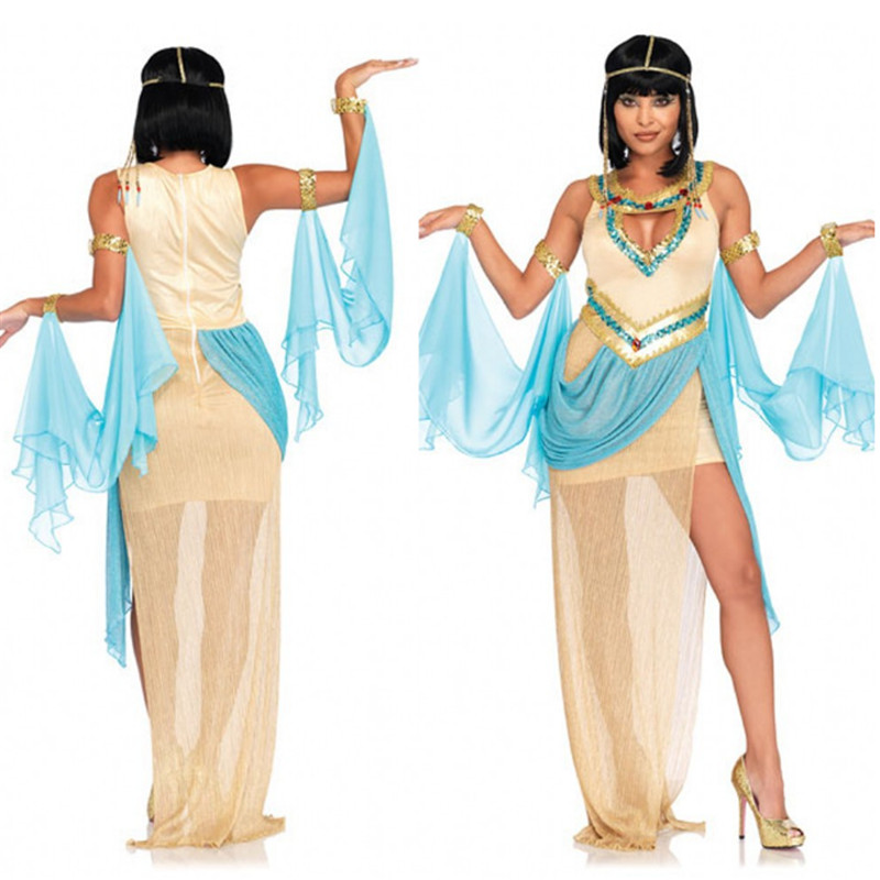 Ancient Egypt Great Egyptian Palace Cleopatra Queen Dress Cosplay Dancer Party Woman Costume Greek Goddess clothing Halloween