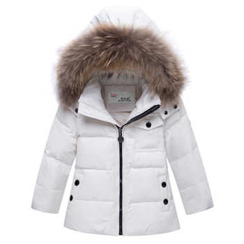 2019 Children\'s Winter Jackets Kids Snowsuits Autumn Hooded Down Coat For Girls Boys Toddler Outerwear Warm Overalls Jumpsuits
