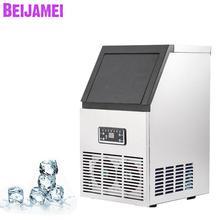 BEIJAMEI машина для производства льда коммерческий куб льдогенератор автоматический, квадратный льда для бара, кофейни, молочного чая магазин