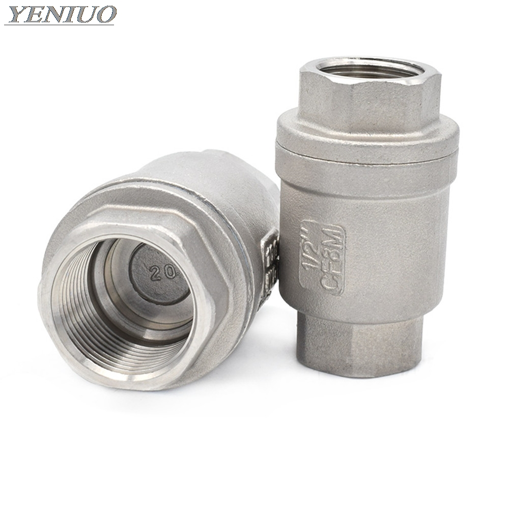 G1//2 G3//4 G3//4 G1 Check Valve Brass One Way Check Valve Unidirectional High Accuracy Vertical Threaded Wire Spring Non-Return Water Check Valve for Water Gas Oil
