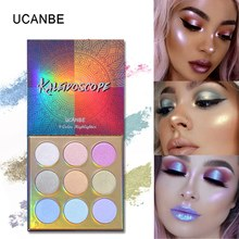 UCANBE 2019 New Glitter Eyeshdow Palette Long Lasting Shimmer Eye Shadow Multi-function Makeup Palette Face Highlighter Powder цены