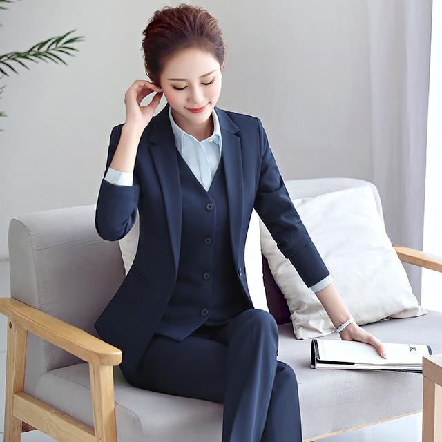 High Quality Women Blazer Long Sleeve Polyester Coats Feminine Office Clothes Elegant Temperament Solid Formal Blazer For Women 1
