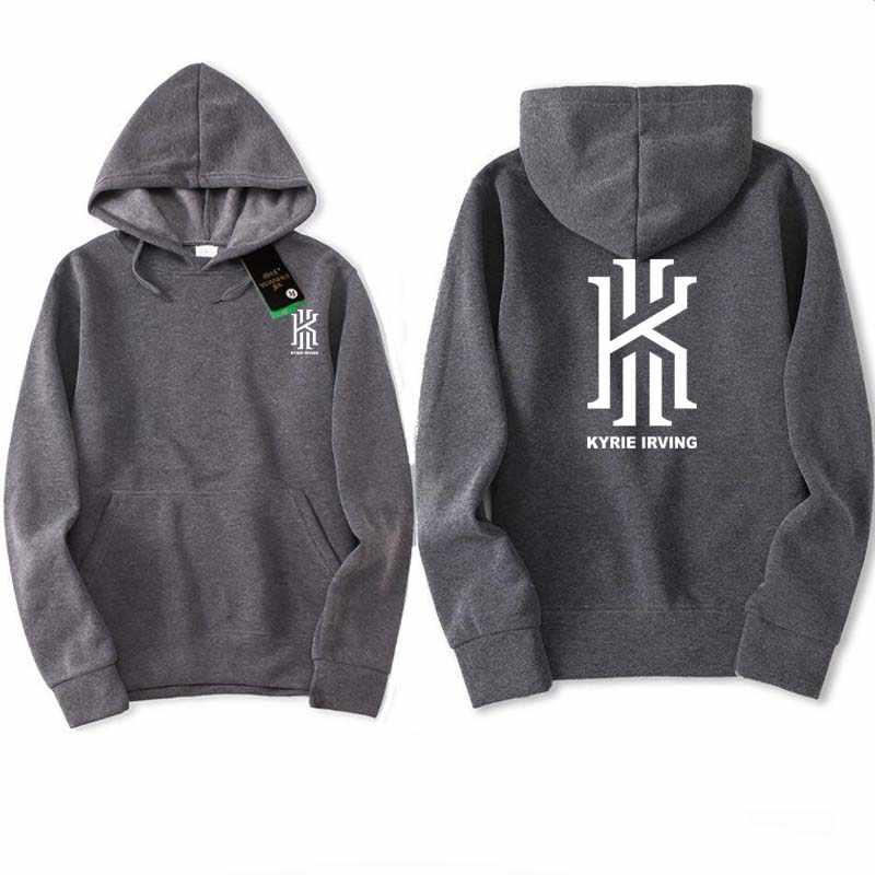 d4a98e9695d ... 2018 Kyrie Irving autumn winter Hoodies Sweatshirts men Hoodies nba Hip  Hop printed Grey black Hoody