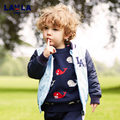 2016 Lavla Cute Cartoon Bear Print Spring Autumn Kids Jacket Boys Outerwear Coat Active Baby Windbreaker Sport Suit For Children