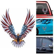 1pcs נשר אמריקאי דגל שיפוץ מדבקה לרכב גוף מירוץ צד דלת ארוך פס מדבקות אוטומטי ויניל מדבקות לרכב מדבקות