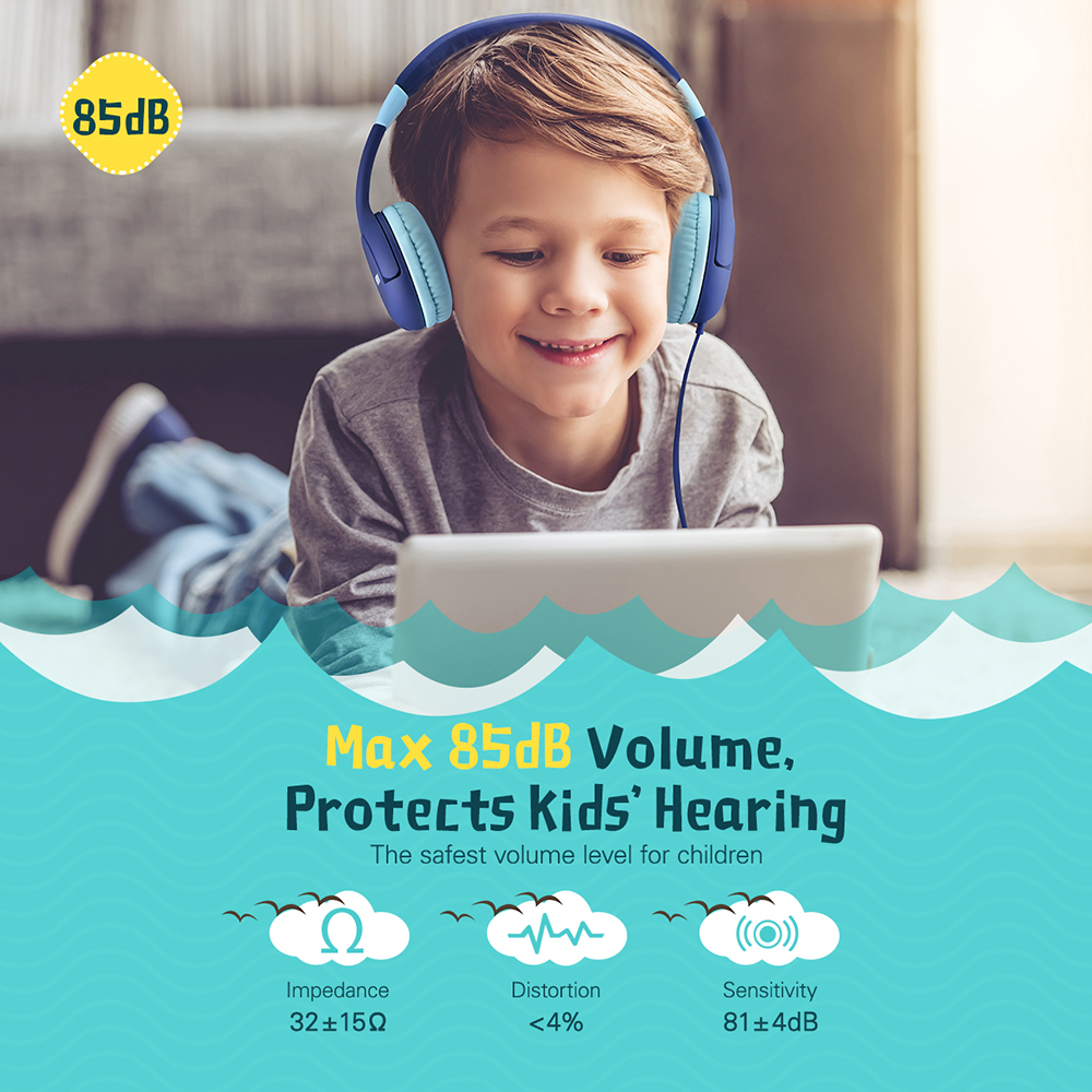 dc07c6e5b29 Mpow CH1S Kids Headphones 85DB Limited Hearing Protection Kid Headphones  Noise Cancelling Headphones For Boys/Girls Kid With Mic-in Headphone/Headset  from ...