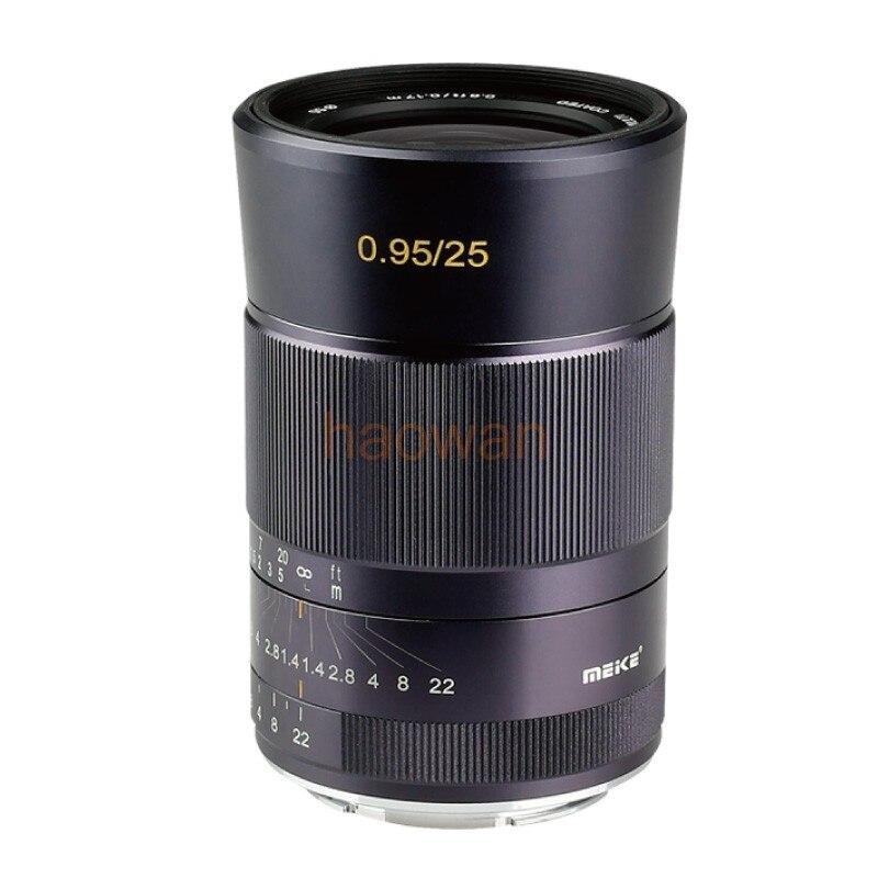 Objectif de mise au point manuelle à grande ouverture 25mm F0.95 pour APS-C canon eosm nikon1 sony a6000 a6300 m43 fuji fx XT1